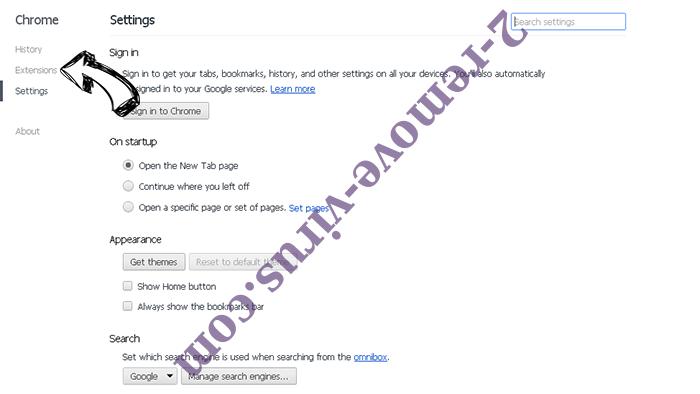Search.clarobuscar.com Chrome settings
