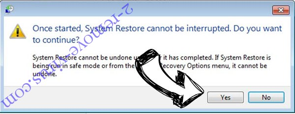 .Cobra files removal - restore message