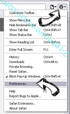 Hmysearchassistance.com Safari menu
