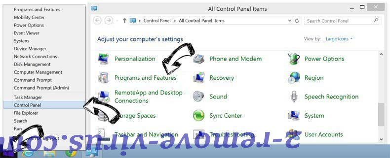 Delete QuericsSearch from Windows 8