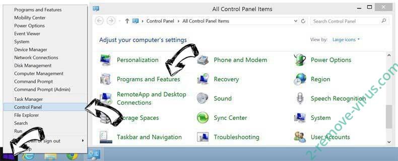 Delete Search.clarobuscar.com from Windows 8