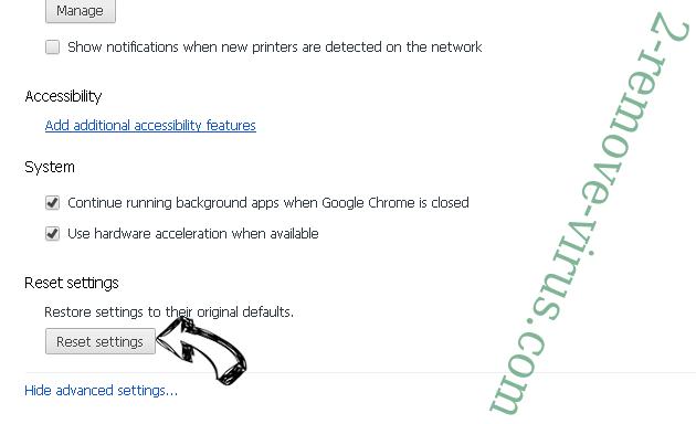 Alhea.com hijack Chrome advanced menu