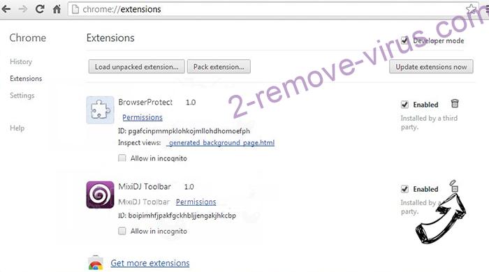 Alhea.com hijack Chrome extensions remove