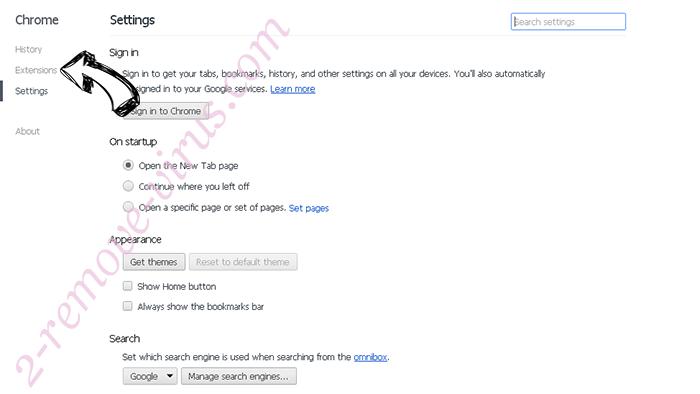 Alhea.com hijack Chrome settings
