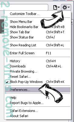 Alhea.com hijack Safari menu