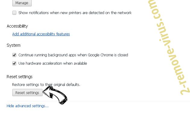 Pup.optional.trovi Chrome advanced menu