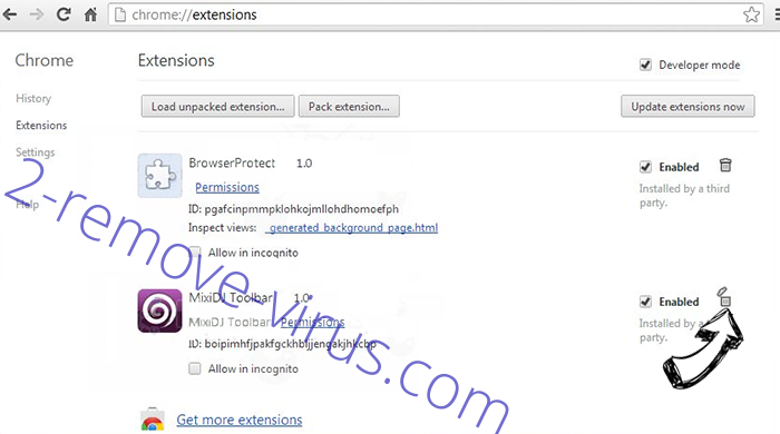Robotcaptcha2.info Chrome extensions remove