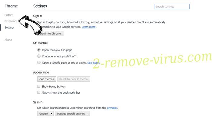 Robotcaptcha2.info Chrome settings