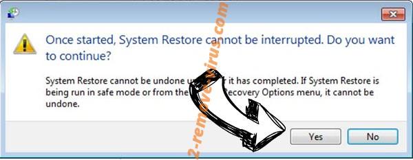 Cobra Locker ransomware removal - restore message