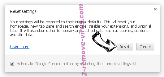 Spaces adware Chrome reset