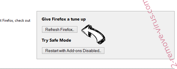 Spaces adware Firefox reset
