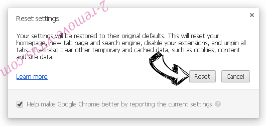 Open Software Updater Chrome reset