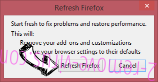Open Software Updater Firefox reset confirm
