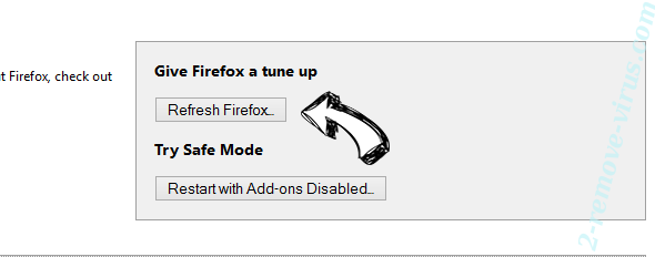 Open Software Updater Firefox reset