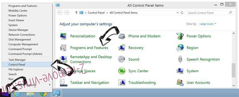 Delete Alhea.com hijack from Windows 8