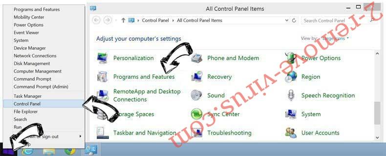 Delete Robotcaptcha2.info from Windows 8