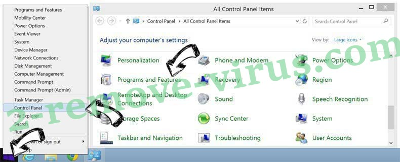 Delete Spaces adware from Windows 8