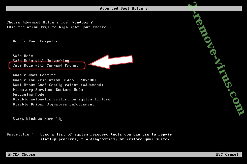Remove Adame Ransomware - boot options