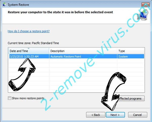 .herad file virus - restore point