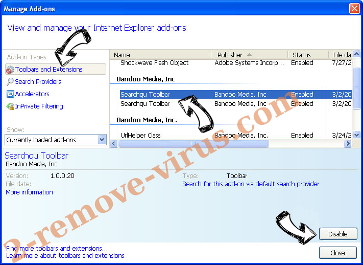 Searchtheconverter.com IE toolbars and extensions