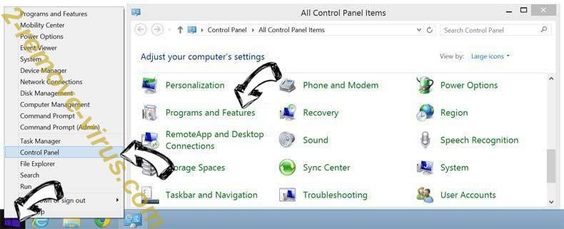 Delete E.tre456_worm_osx from Windows 8