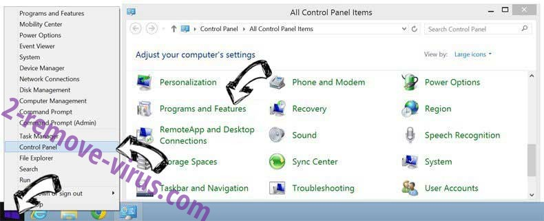 Delete SearchTheConverter from Windows 8