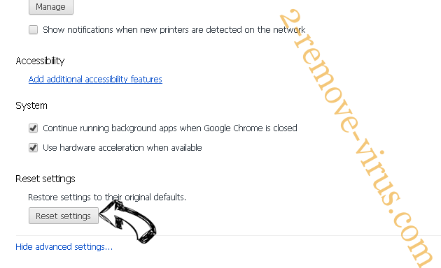 AutoPurged Search Chrome advanced menu