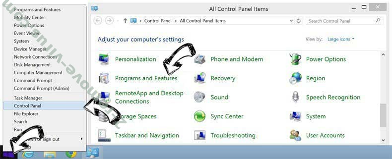 Delete Auto-secured.com from Windows 8