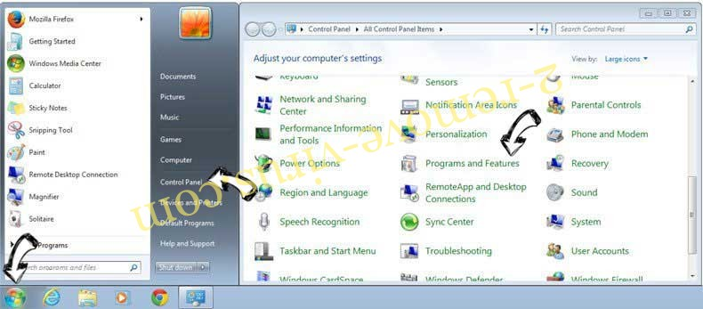 Uninstall IStreamSearch from Windows 7
