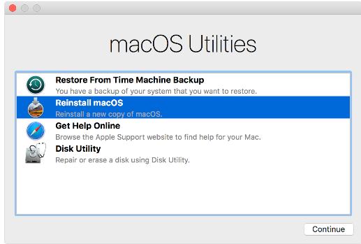 Reinstalling your macOS