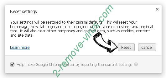 Search Omiga browser hijacker Chrome reset