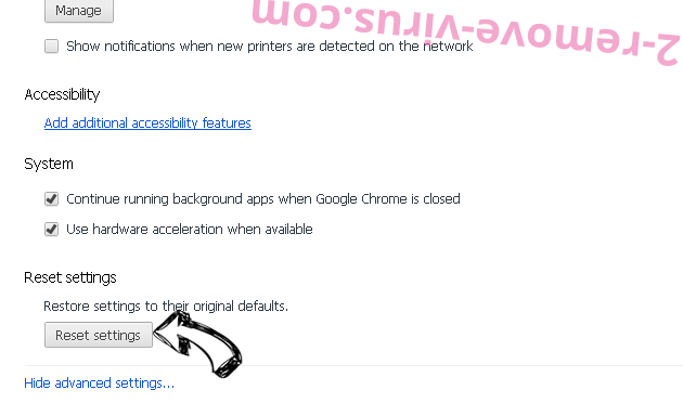 Stoomoogn.com Chrome advanced menu