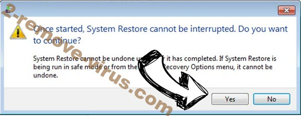 .YUFL virus removal - restore message