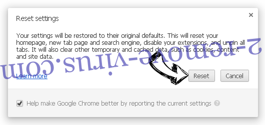 SearchSpace Chrome reset