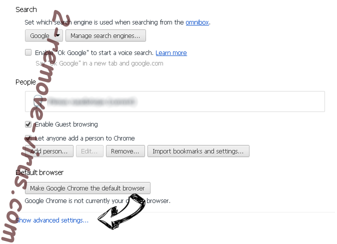 AccessibleSkill Chrome settings more