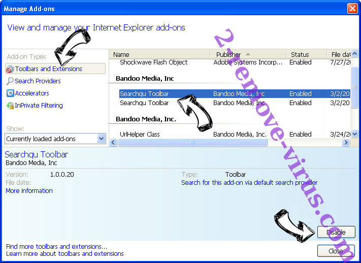 SearchSpace IE toolbars and extensions