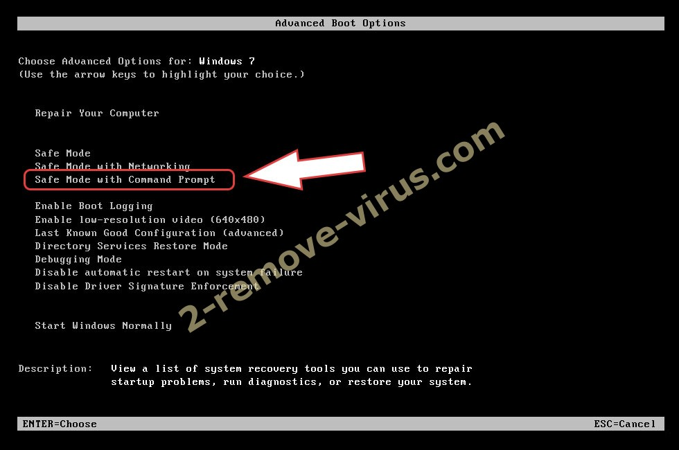 Remove .sthd2 file ransomware - boot options