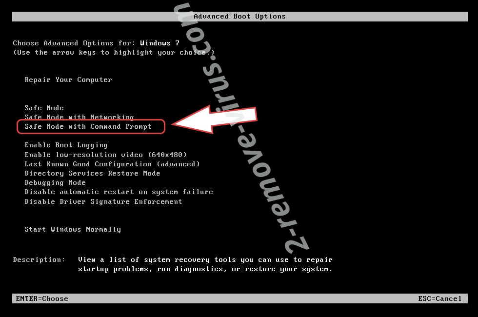 Remove .LeakTheMall file ransomware - boot options