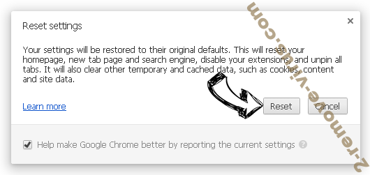 Nonamenba sites Chrome reset