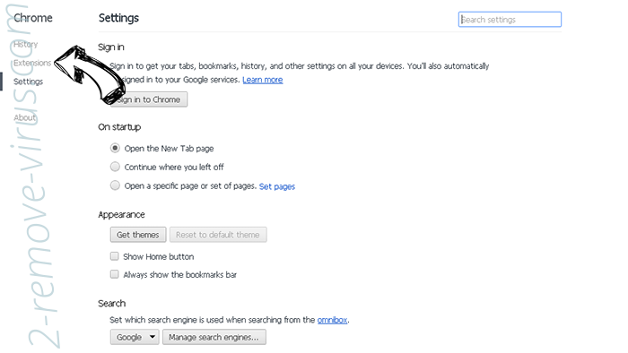 Nonamenba sites Chrome settings