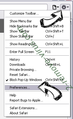 Gogoputlocker.com Safari menu