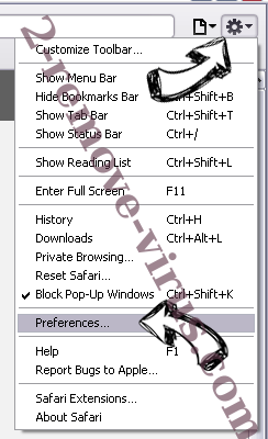 Securegate9.com Safari menu