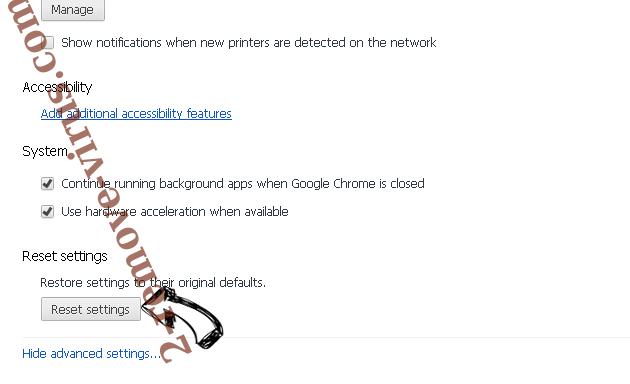 Searchdefenderlive.com Chrome advanced menu
