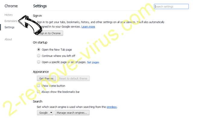 Searchdefenderlive.com Chrome settings