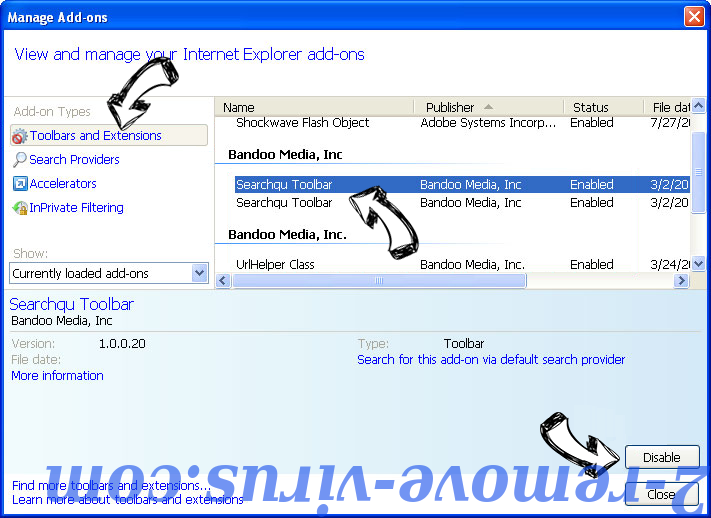 Searchdefenderlive.com IE toolbars and extensions