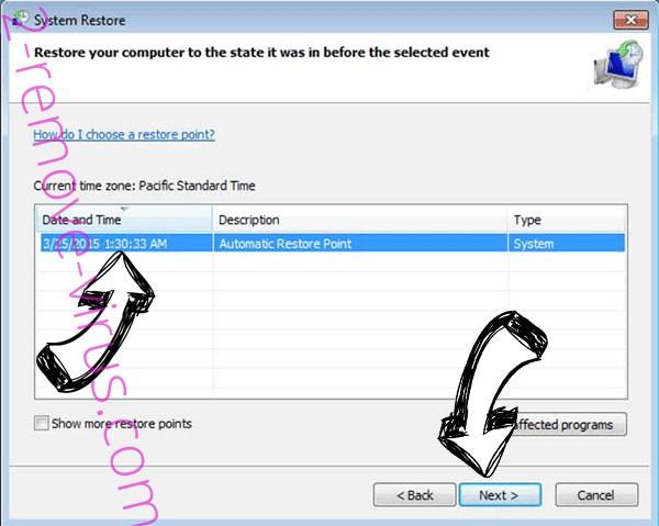 Datarestorehelp@firemail.cc ransomware - restore point