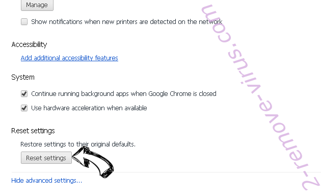 CoordinatorData Adware Chrome advanced menu