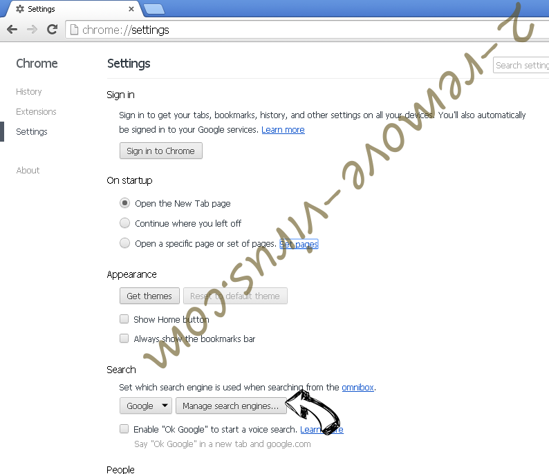 Touchpushthen.info Chrome extensions disable