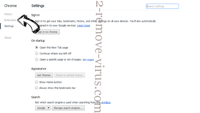 Newstrackr.co Chrome settings