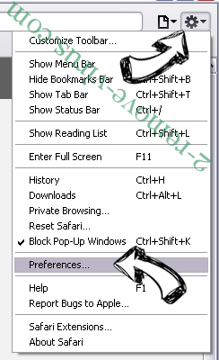 System Care Pro Safari menu